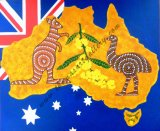 AUSTRALIA ICON – ON AUSTRALIAN NATIONAL FLAG